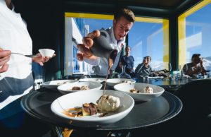 White Marmote Corviglia Impressionen Präparation Dessert
